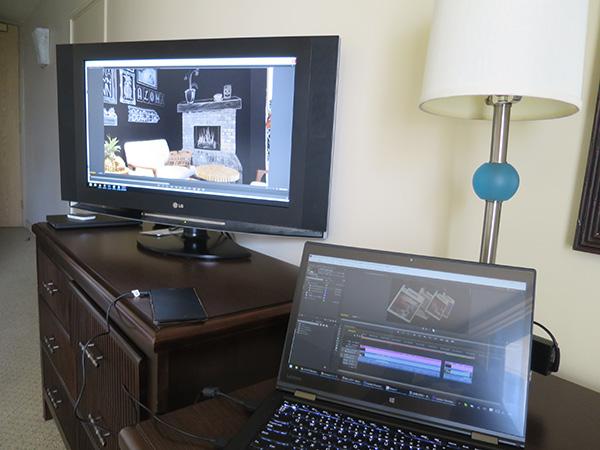 X1 Yogaと動画編集用のプレビューモニタ