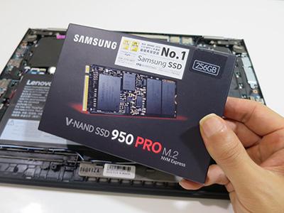 X1 YOGA carbon SSDの換装にNVMe 950 PRO 256GB