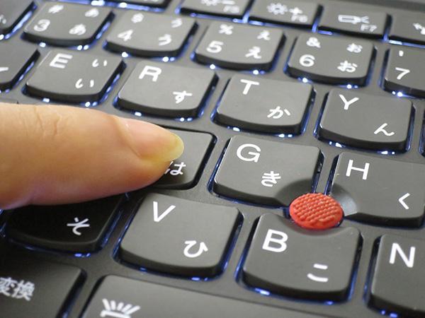 ThinkPad X1 Yoga キーストロークがしっかり確保されている