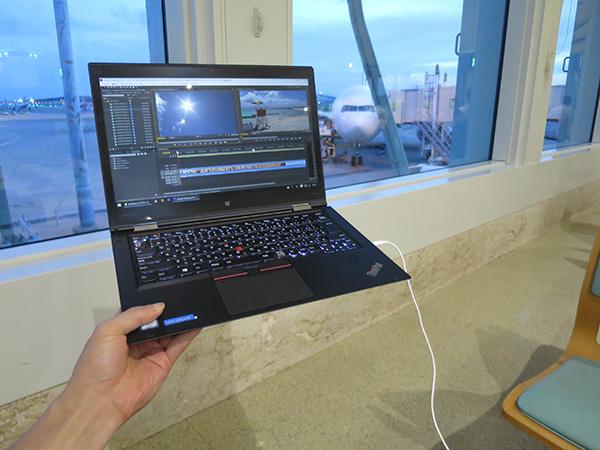 那覇空港 x1 Yogaで動画編集