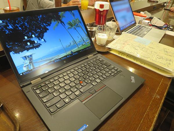 ThinkPad X1 yogaの実働を計測
